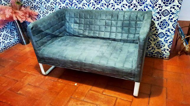 Sofa 2 pessoas, metálico IKEA Knopparp (Cores Laranja/Cinza)