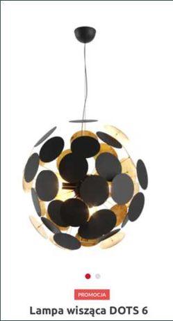 Żyrandol metalowy czarny złoty lampa wisząca