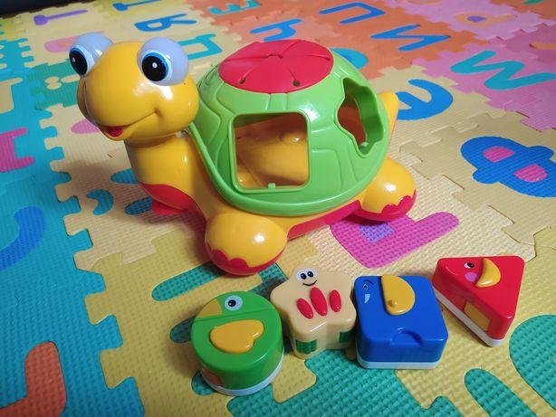 Интерактивная игрушка черепаха, черепашка - сортер