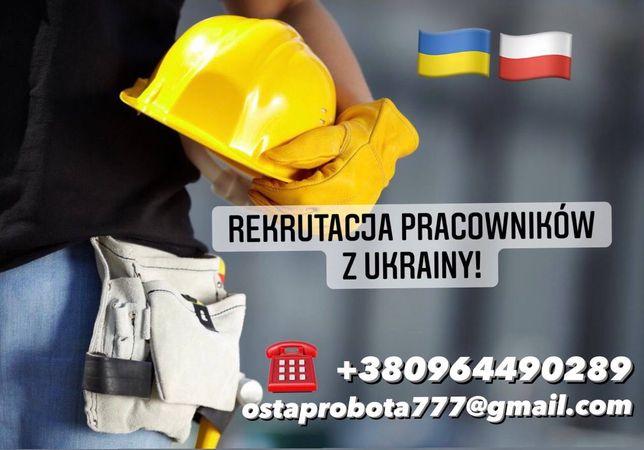 Rekrutacja pracowników z Ukrainy  !