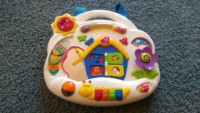 Zabawka panel edukacyjny, interaktywny, muzyczny.