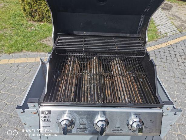 Grill gazowy na kółkach grill chef
