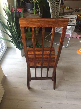 8 krzesel z drewna egzotycznego