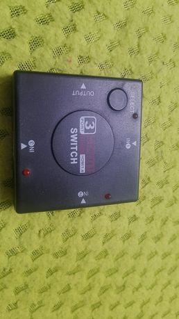 Roździelacz Hdmi  switch 3 port 1080 HD Hdmi