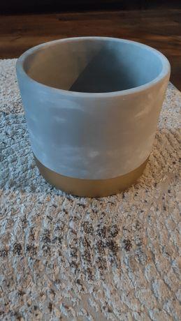 Donica osłonka śr. 30cm beton złoto