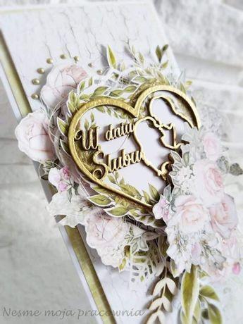Kartka okolicznościowa ślubna