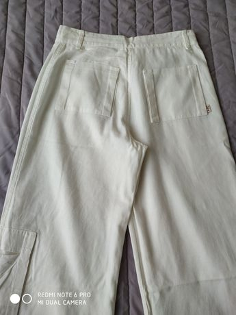 Spodnie lniane 36