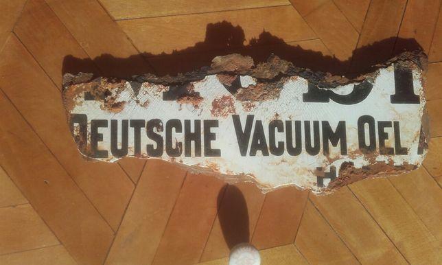 Stary niemiecki fragment tablicy