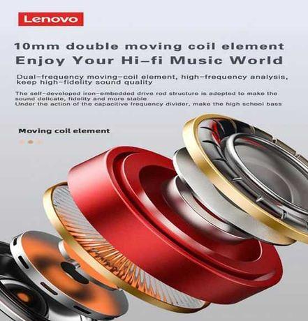 Auriculares sem fio LENOVO LP2 novos preto