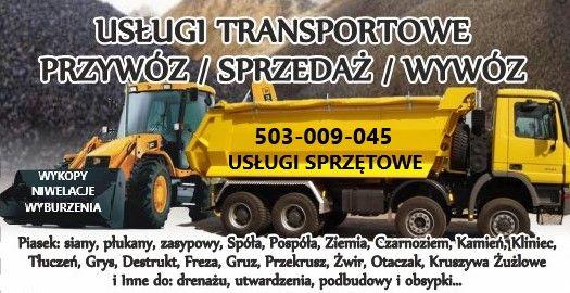 Transport Kamień Kruszywo Piasek Żużel Tłuczeń Kliniec Otaczak Żwir