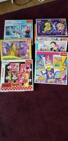 Sprzedam puzzle 3+/4+/5+/6+ Minnie, Barbie, Pony, Scooby, Frozen
