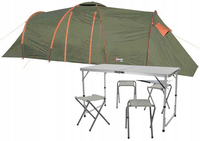 Namiot Clif 8 os.+ Stolik Turystyczny + 4 Krzesła