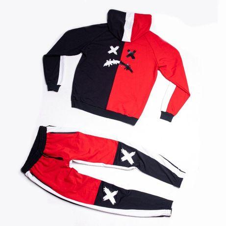Спортивный костюм Broken мужской зимний теплый на флисе Кофта + штаны