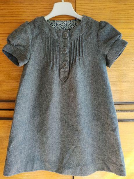 Детское теплое платье Zara на 4-5 лет