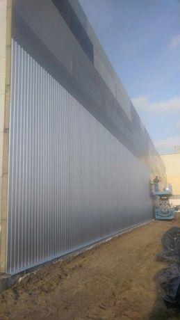 Tania płyta warstwowa 200 mm + blacha trapezowa, docieplenie ścian