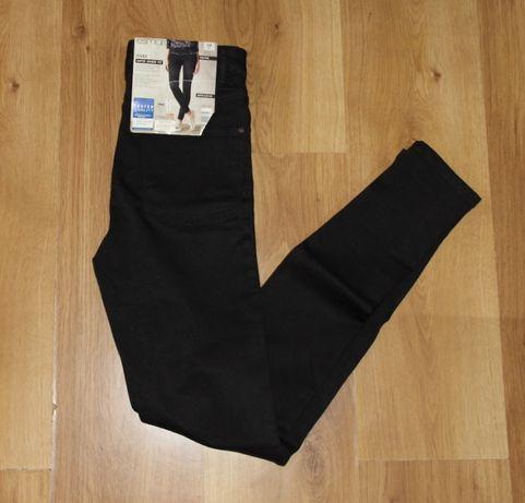 spodnie czarne jeans 34 xs lee plein  36 s rurki spodnie jeansowe