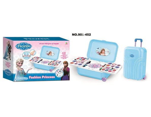 Детский набор декоративной косметики в чемодане на колесах высота 23,5