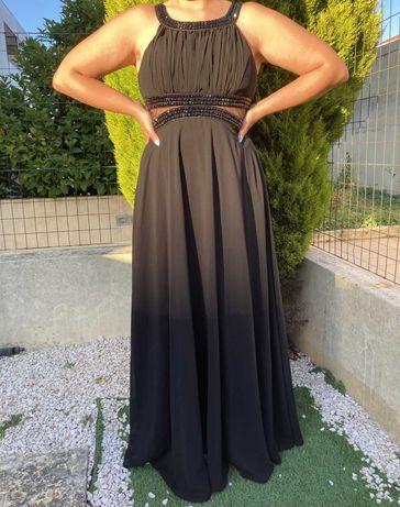 vestido Preto festa comprido