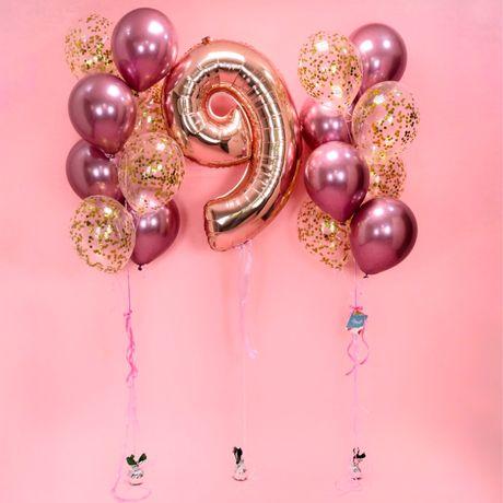 Цифры с гелием на день рождения ,гелиевые шарики , воздушные
