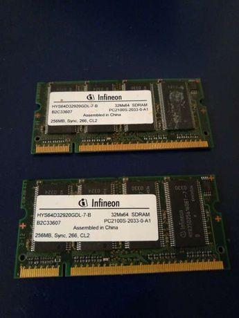 2 slots memória interna para computador portátil