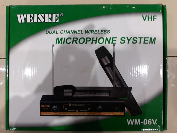Microfone Weisre dual channel WIRELESS MICROPHONE SYSTEM