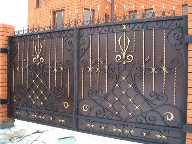 Кованные ворота и калитки, заборы, беседки