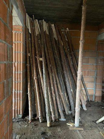Sprzedam stęple budowlane od 2,7 do 3,5 m , deska szalunkowa