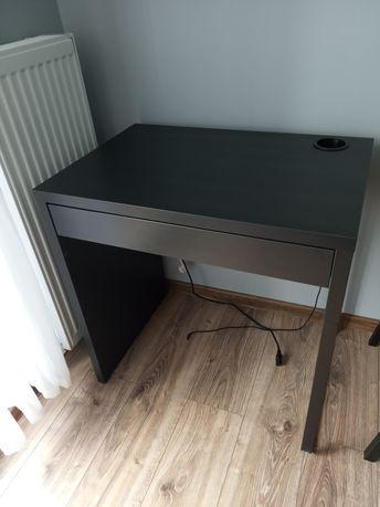 Biurko Ikea Micke czarnobrąz