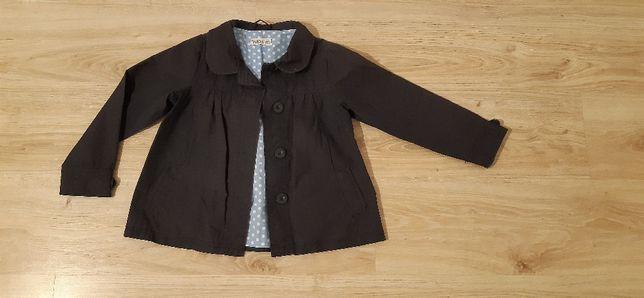 granatowa kurteczka, płaszczyk na wiosne dla dziewczynki rozm. 110 cm