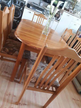 Stół plus 6 krzeseł 100%drewno