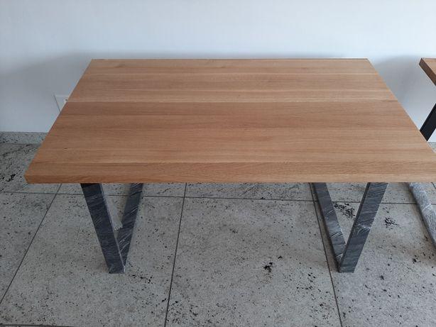 stół dębowy loft; dąb lity 89x150 od stolarza