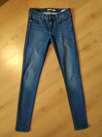 Levis 711 dżinsy 25 32 klasyczne niebieskie elastyczne skinny jeansy