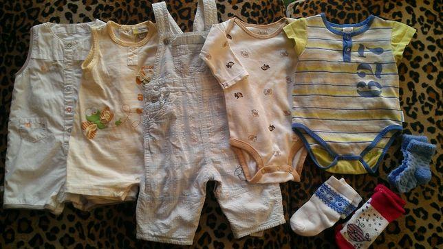 Комплект детских фирменных вещей на возраст 0-3 месяца.
