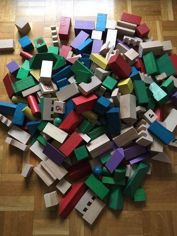 Klocki drewniane 200 elementów