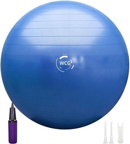 Мяч для фитнеса (фитбол) WCG 65 Anti-Burst 300кг Голубой + насос