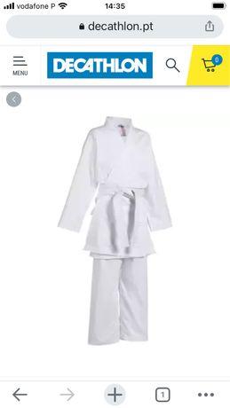Kimono de karate crianca branco 110cm 3 anos