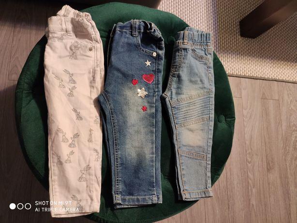Trzy pary spodni dziewczęcych 80