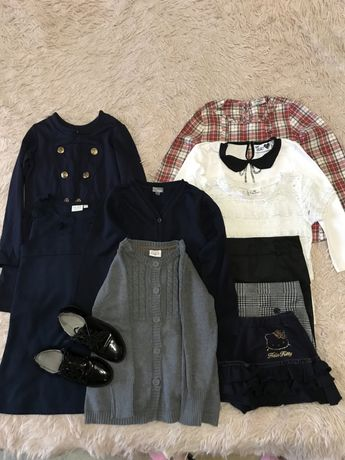 Школьные вещи блузы,юбки,сарафан,платье,туфли все 460 грн