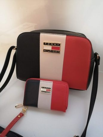 Komplet tommy torebka+ portfel