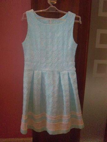 Jasnoniebieska sukienka dla dziewczynki 152 cm