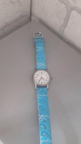 Zegarek JM na niebieskim pasku motyw morze delfiny kolekcja dziecięca