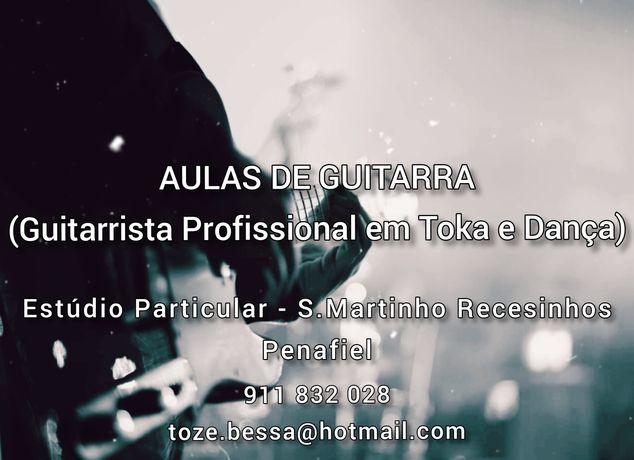 Aulas guitarra clássica ou eléctrica / Formação Musical