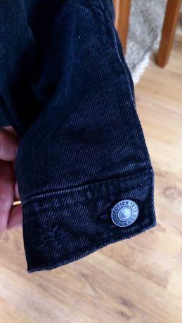 Kurtka jeansowa ocieplana czarna