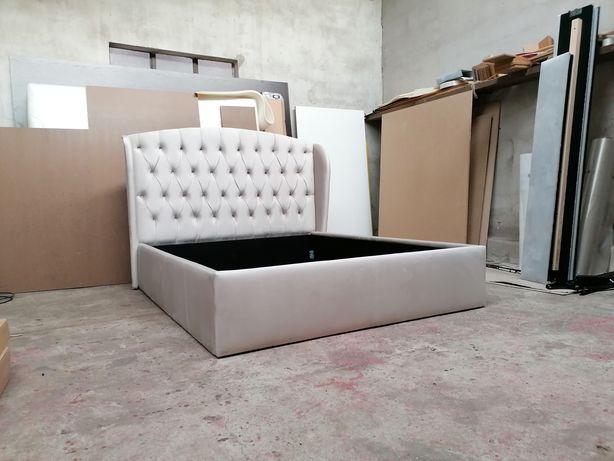 Łóżko tapicerowane Cheasterfield pikowane 140/160/180 x 200 welwet