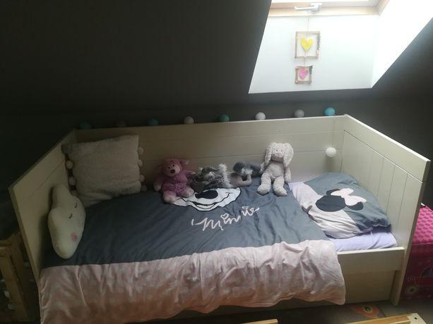 Łóżko drewniane Pinio + materac