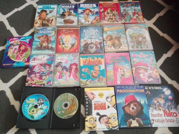 Minionki, Dzwoneczek, Mia, Inne. Kolekcja filmów dvd dla dzieci