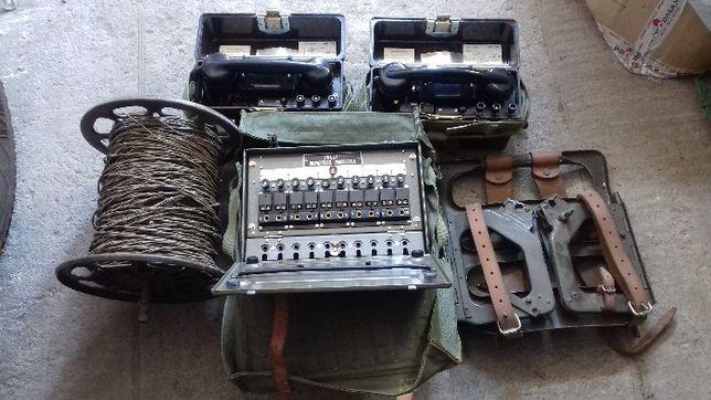 łącznica wojskowa, telefony polowe wojskowe,kabel pkl