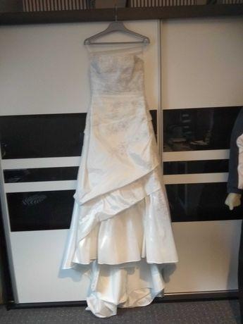 Diamentowa anielska piękna Angelo suknia ecru zamienię na rower!