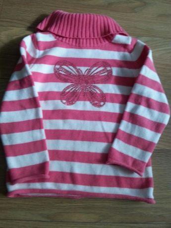 Sweter z motylkiem z cekinów c&a 110-116.Wysyłka gratis
