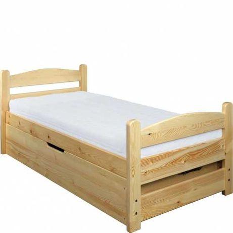 Łóżko drewniane młodzieżowe pojemnik na pościel 90x200